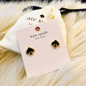 kate spade Jewelry - Kate Spade ♠️ Black Logo Earrings